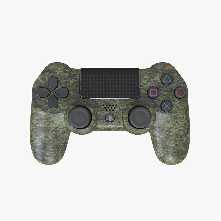 Dual Shock PS4 royalty-free 3d model - Preview no. 1