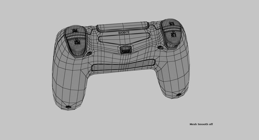 Dual Shock PS4 royalty-free 3d model - Preview no. 10
