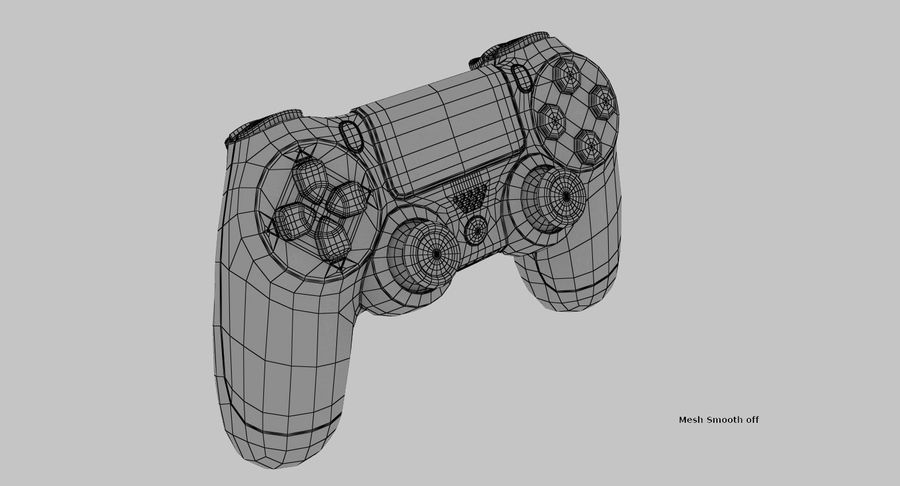 Dual Shock PS4 royalty-free 3d model - Preview no. 8
