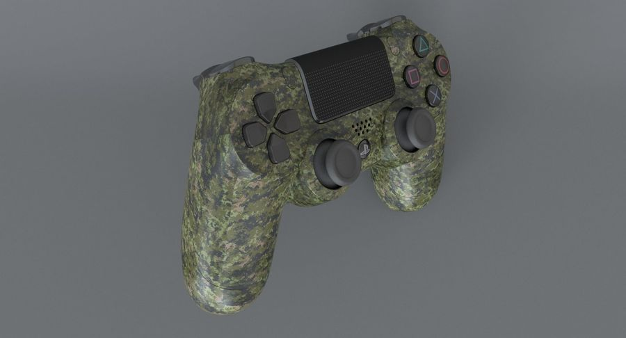 Dual Shock PS4 royalty-free 3d model - Preview no. 7