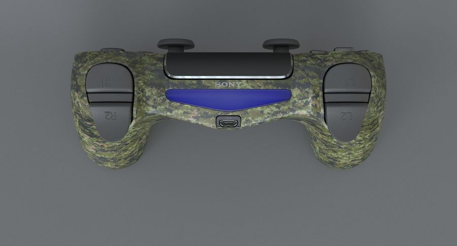 Dual Shock PS4 royalty-free 3d model - Preview no. 5