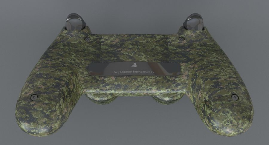 Dual Shock PS4 royalty-free 3d model - Preview no. 4