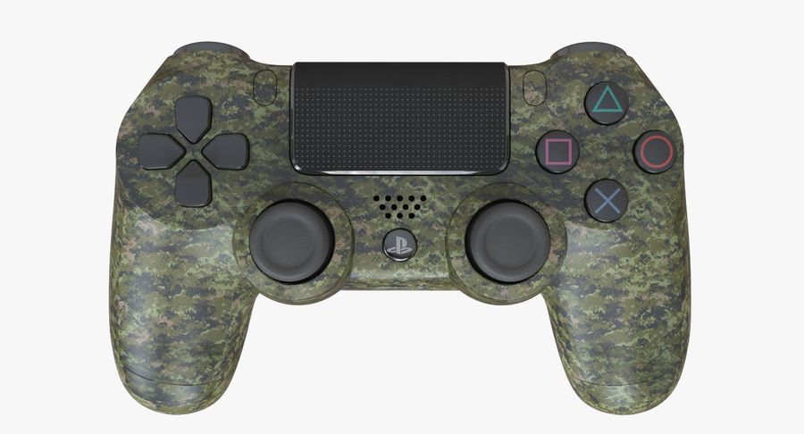 Dual Shock PS4 royalty-free 3d model - Preview no. 2
