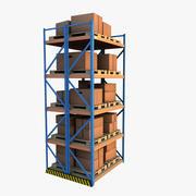 warehouse shelf 3d model
