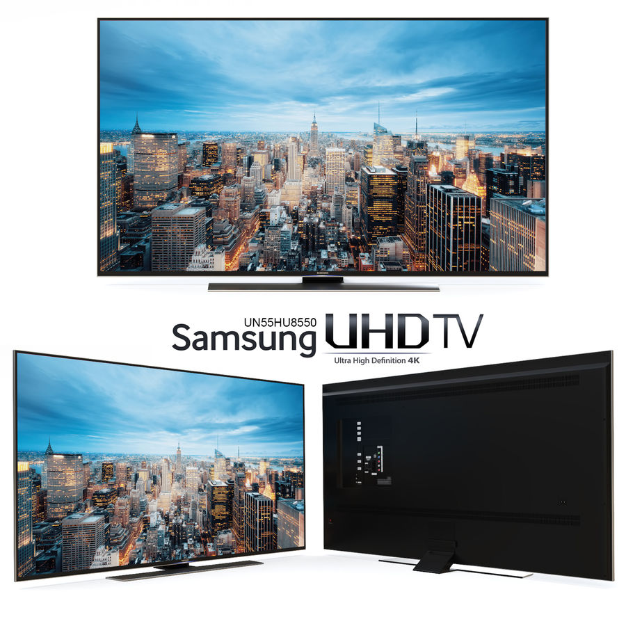 Samsung UHD 4K LED TV royalty-free 3d model - Preview no. 2