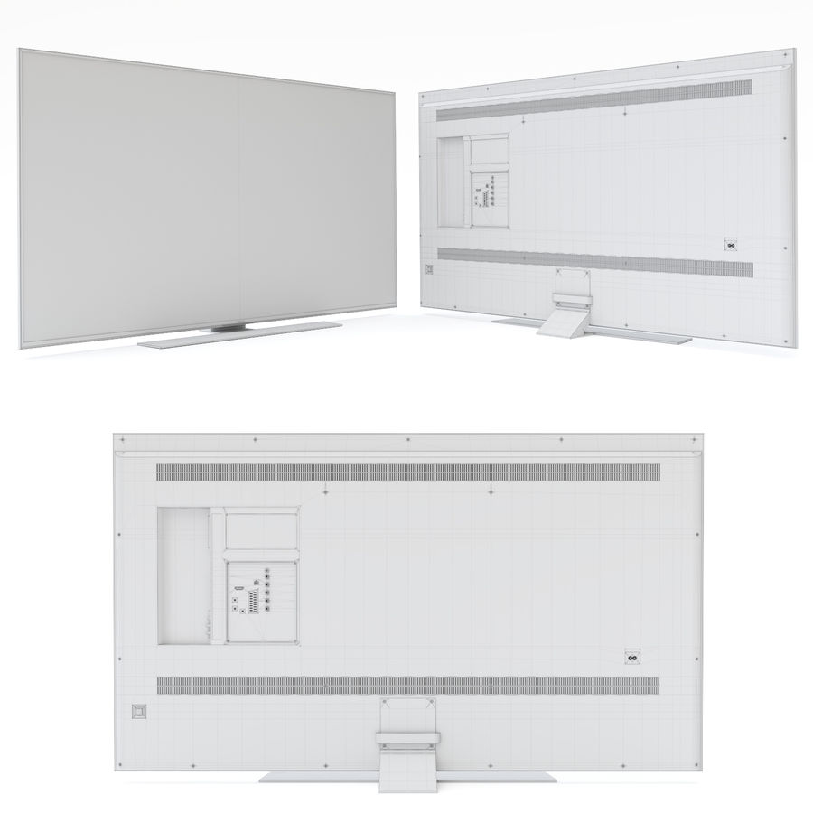Samsung UHD 4K TV LED royalty-free 3d model - Preview no. 19
