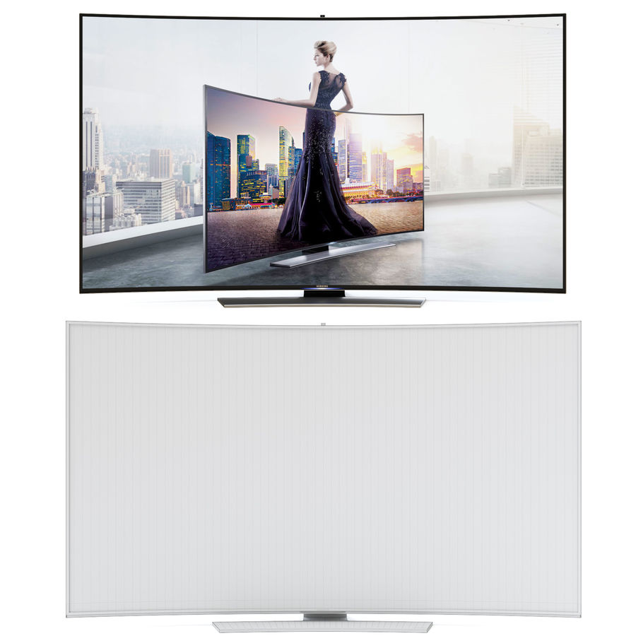 Samsung UHD 4K LED TV royalty-free 3d model - Preview no. 4