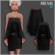 Siyah elbise 3d model