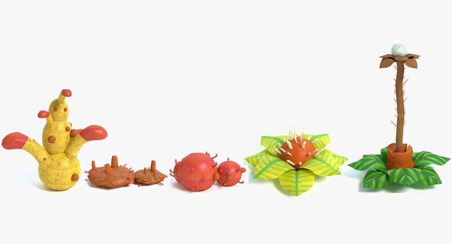 Zestaw roślin obcych royalty-free 3d model - Preview no. 2