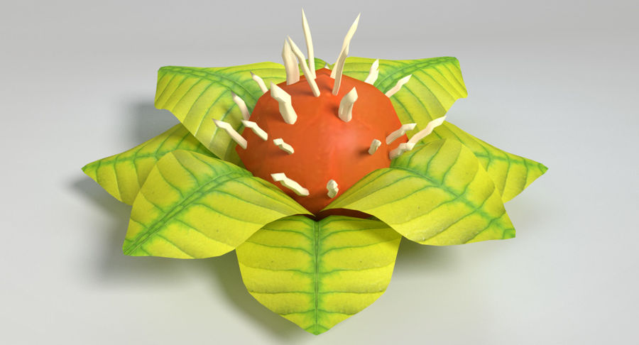 Zestaw roślin obcych royalty-free 3d model - Preview no. 35