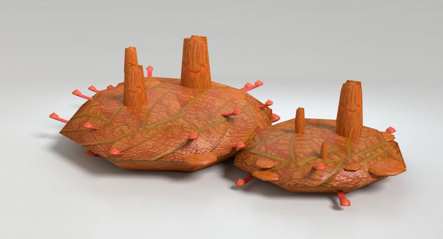 Zestaw roślin obcych royalty-free 3d model - Preview no. 24