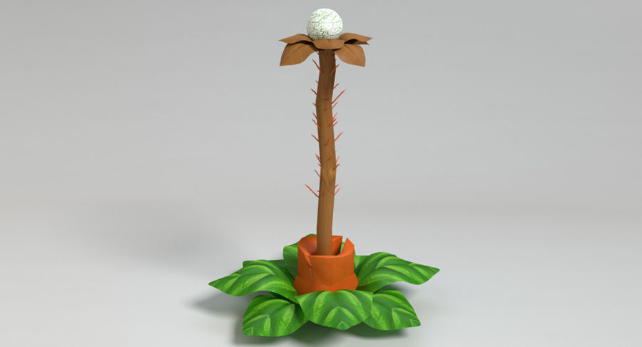 Zestaw roślin obcych royalty-free 3d model - Preview no. 27