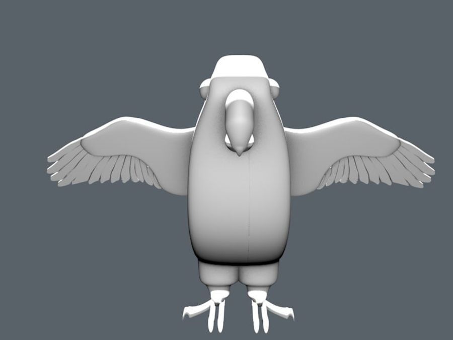 bird royalty-free 3d model - Preview no. 1