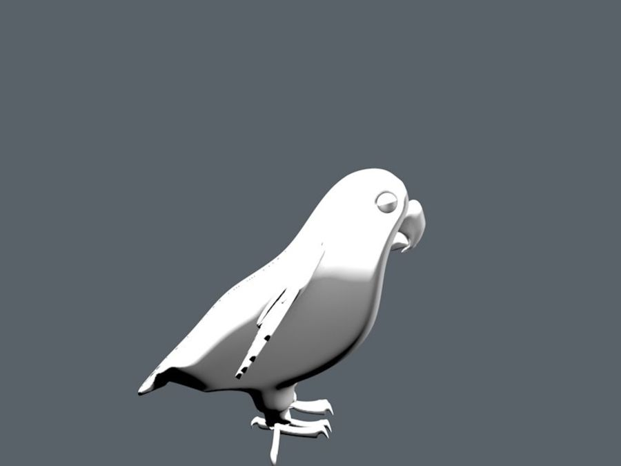 bird royalty-free 3d model - Preview no. 2