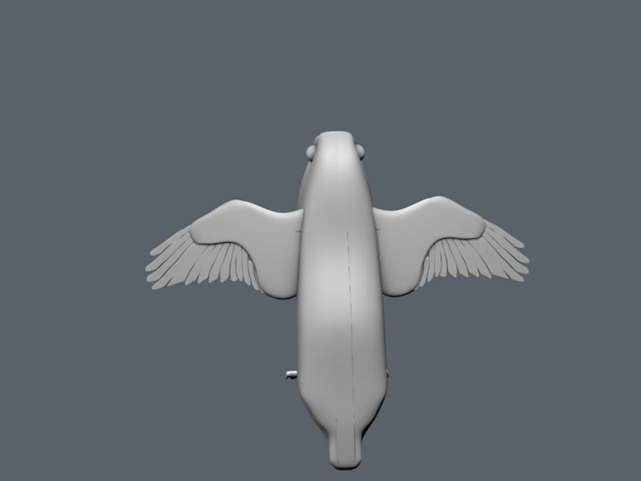bird royalty-free 3d model - Preview no. 4