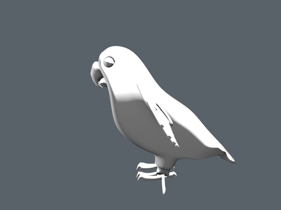 bird royalty-free 3d model - Preview no. 3