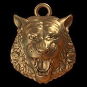 tigre pendente 3d model