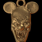 pendant clown head 3d model
