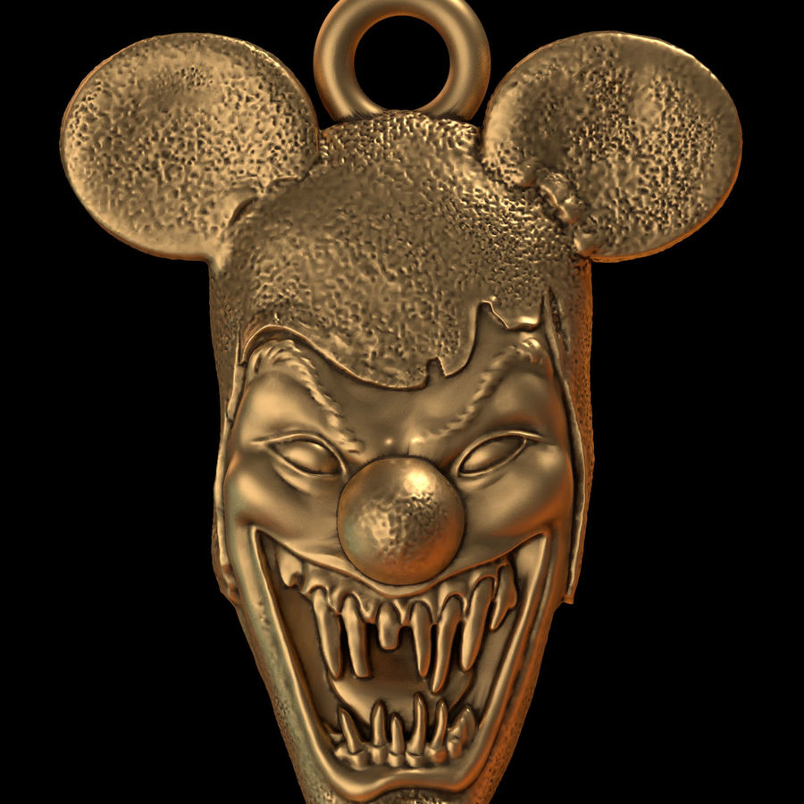 pendant clown head royalty-free 3d model - Preview no. 1