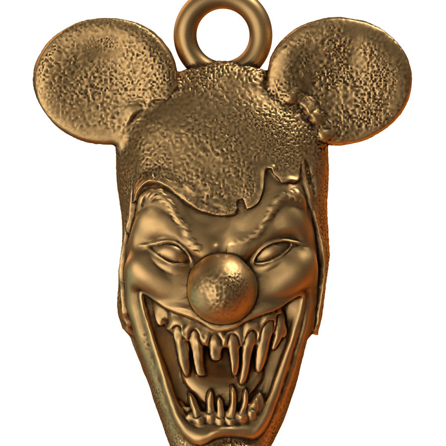 pendant clown head royalty-free 3d model - Preview no. 2