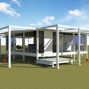 Casa mínima moderna - Rudolph Guest House 3d model