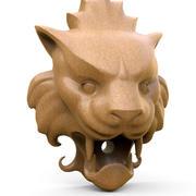 Lejonhuvud (fontänutlopp) 3d model