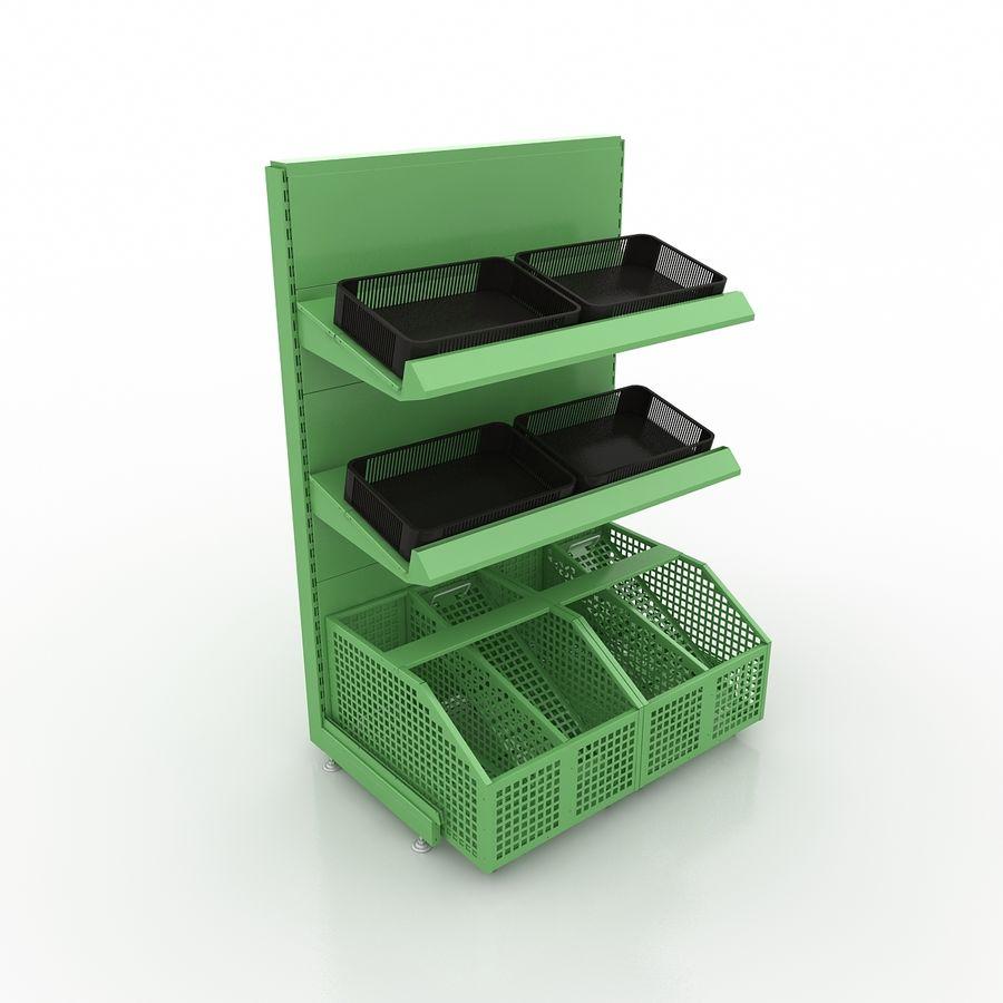 Stojak na owoce lub warzywa (stojak) royalty-free 3d model - Preview no. 2