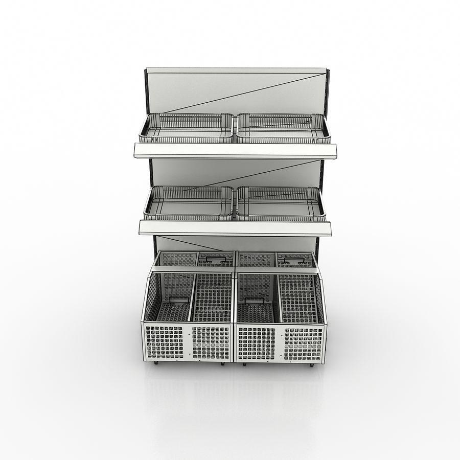 Stojak na owoce lub warzywa (stojak) royalty-free 3d model - Preview no. 7