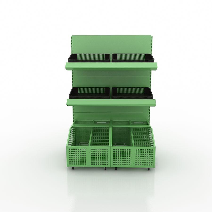 Stojak na owoce lub warzywa (stojak) royalty-free 3d model - Preview no. 3