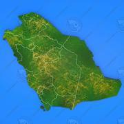 Arabie saoudite carte détaillée du pays 3d model