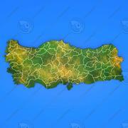 土耳其详细的国家地图 3d model