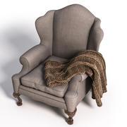 Armchair with a plaid 3d model