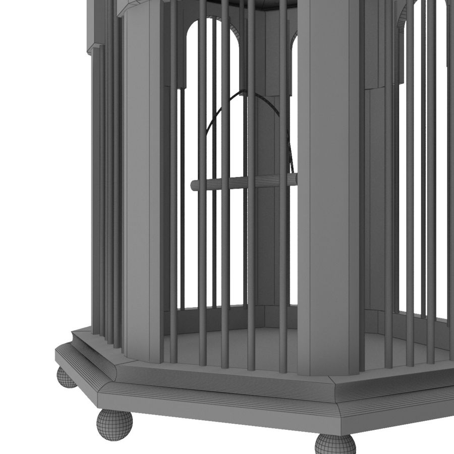 Bird Cage royalty-free 3d model - Preview no. 9