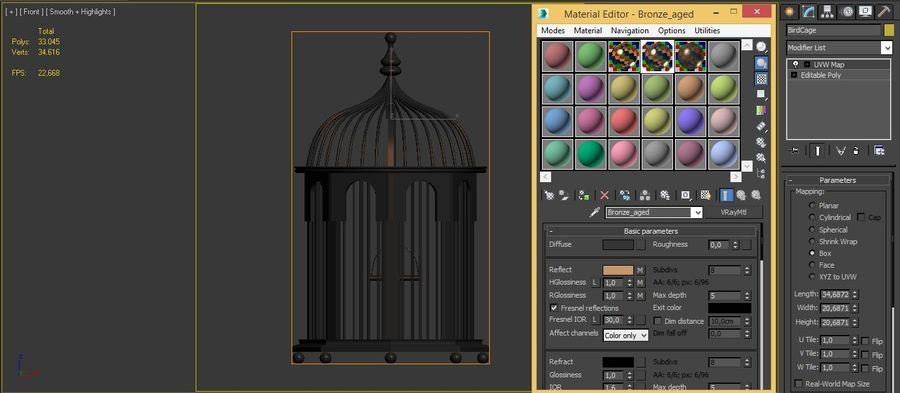 Bird Cage royalty-free 3d model - Preview no. 11
