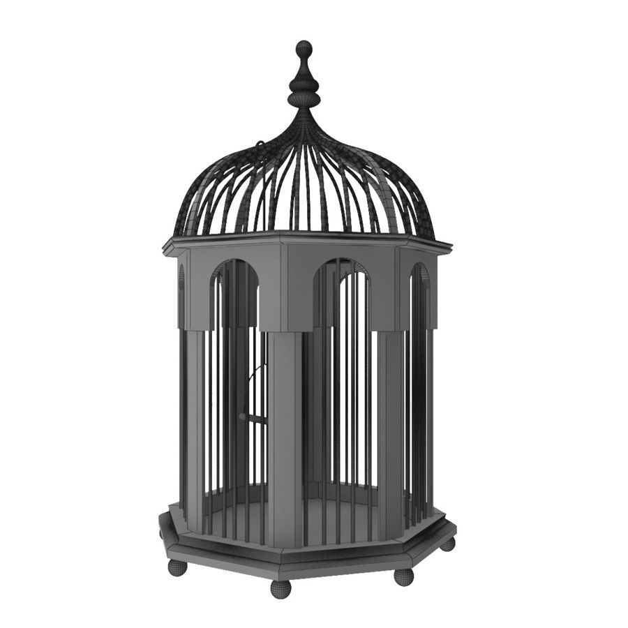 Bird Cage royalty-free 3d model - Preview no. 8