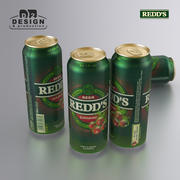 啤酒罐蔓越莓500毫升 3d model