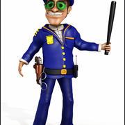 Poliziotto Cartoon 3d model