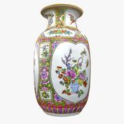 Ornamental Floral Vase 3d model
