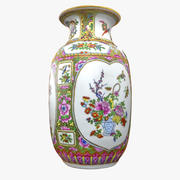 Vaso floreale ornamentale 3d model