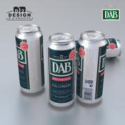 Beer Can DAB 500ml 3d model