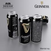 Piwo Guinness 440ml 3d model