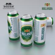 Beer Can Hollandia 500ml 3d model
