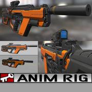 SMG-gevär 3d model