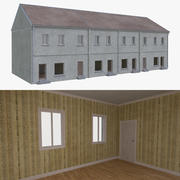 European building one with interior full 3d model