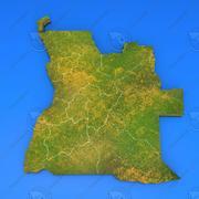 Szczegółowa mapa kraju Angoli 3d model