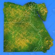 Mapa detallado del país de Egipto modelo 3d