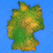 Germania Mappa dettagliata del paese 3d model