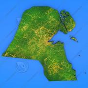 Szczegółowa mapa kraju Kuwejt 3d model