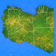 Szczegółowa mapa kraju Libia 3d model
