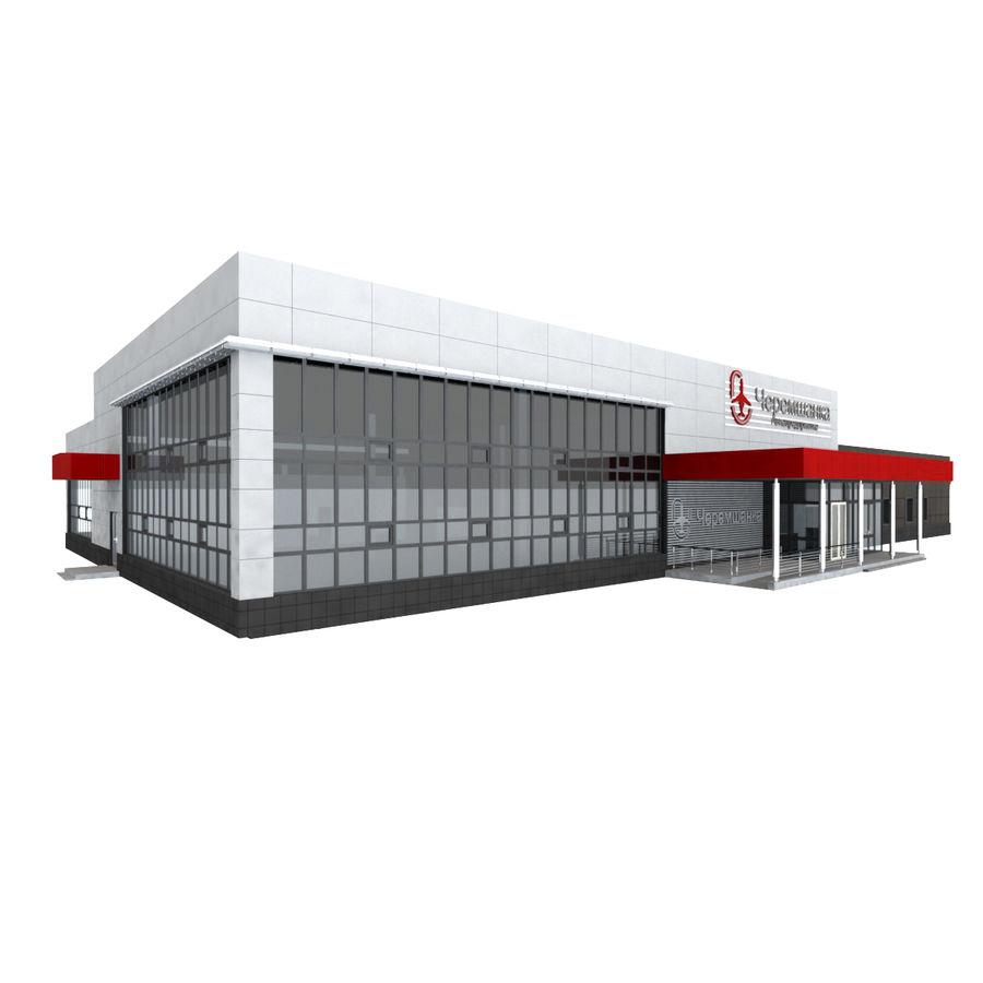 Pequeño aeropuerto provincial royalty-free modelo 3d - Preview no. 2